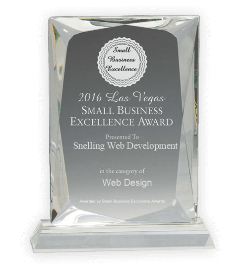 2016 Las Vegas Small Business Excellence Award for Snelling Web Development in Web Design