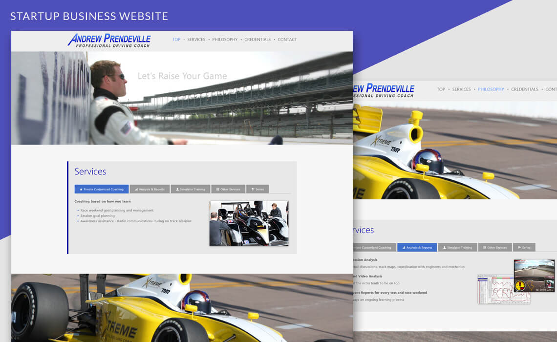 Andrew Prendeville - One-page Responsive Website Design