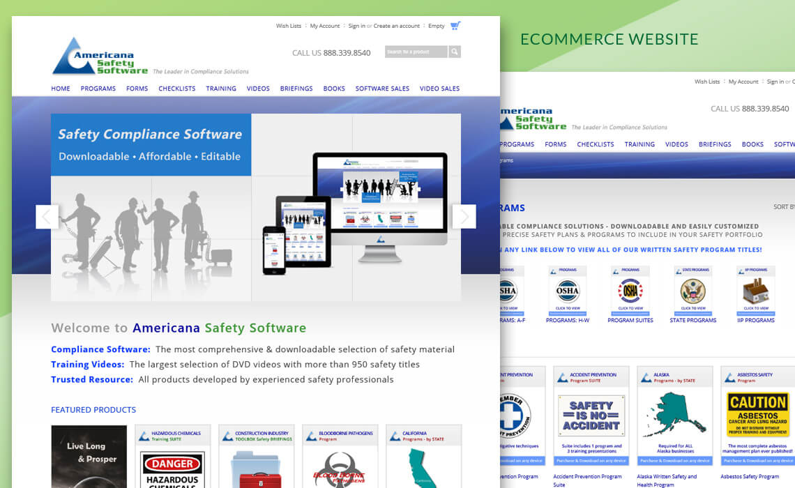 Americana Safety Software - Responsive Business Website Design