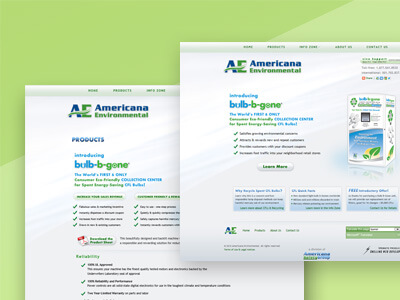 Americana Environmental - Green Business Web Design, Logo Design, Graphics Design
