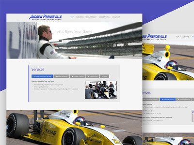Andrew Prendeville - Responsive Business Website, Logo Design