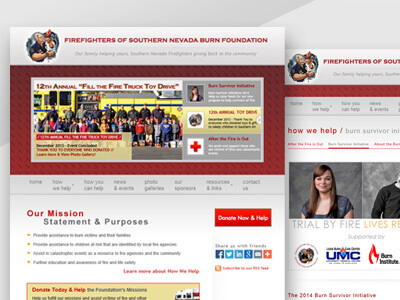 The Burn Foundation - Non-Profit Organization Website Design, Print & Digital Ad Marketing Design