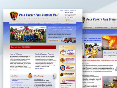 Polk County Fire District No.1 - County Fire District Web Design, Logo Design, Print & Digital Ad Marketing Design