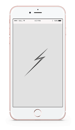 Mobile phone screen displaying a mobile-friendly website