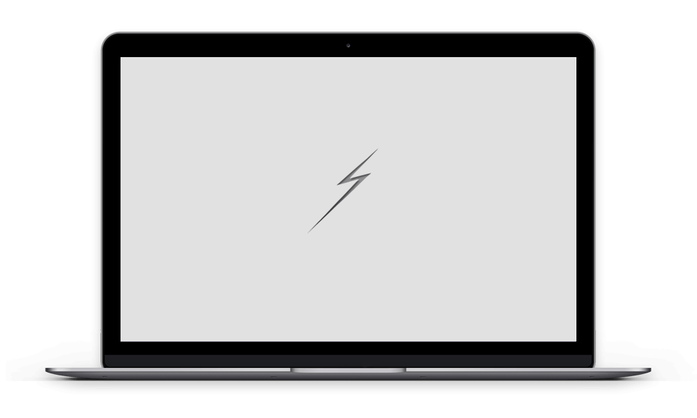 Laptop screen displaying a responsive website